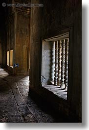angkor wat, asia, balusters, cambodia, slow exposure, vertical, windows, photograph