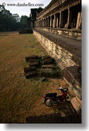 angkor wat, asia, cambodia, east, east entrance, entrance, pillars, vertical, photograph