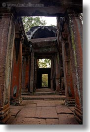 angkor wat, asia, cambodia, corridors, east, east entrance, gates, vertical, photograph