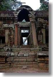 angkor wat, asia, cambodia, east, east entrance, gates, structures, vertical, photograph