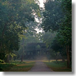 angkor wat, asia, cambodia, east, east entrance, gates, square format, structures, photograph