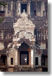 angkor wat, asia, cambodia, east entrance, entrance, stairs, vertical, photograph