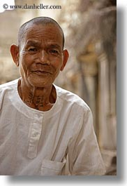 angkor wat, asia, cambodia, men, old, people, vertical, photograph