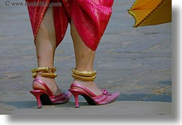 angkor wat, asia, cambodia, heeled, high, horizontal, people, pink, shoes, womens, photograph