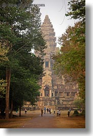 angkor wat, asia, cambodia, east, entrance, towers, vertical, views, photograph