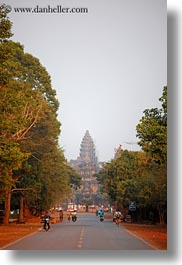 angkor wat, asia, cambodia, leading, roads, towers, vertical, photograph