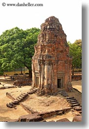 asia, bakong, bricks, cambodia, small, temples, vertical, photograph
