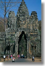asia, cambodia, gates, south, south gate, vertical, photograph