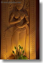 apsara, asia, cambodia, flowers, hotels, vertical, photograph