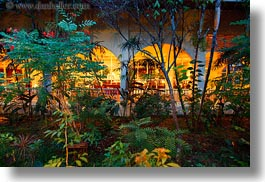 arches, asia, cambodia, gardens, horizontal, hotels, slow exposure, photograph