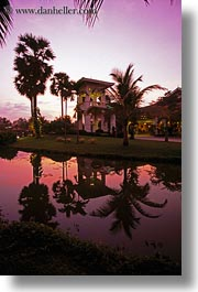 asia, cambodia, dusk, exteriors, hotels, vertical, photograph