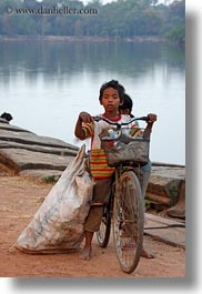 asia, bicycles, boys, cambodia, childrens, people, vertical, photograph