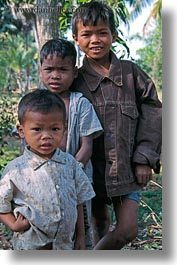 asia, boys, cambodia, people, threes, vertical, photograph
