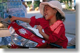 asia, cambodia, girls, horizontal, motorcycles, people, photograph