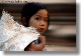 asia, blur, cambodia, girls, horizontal, motion, people, photograph