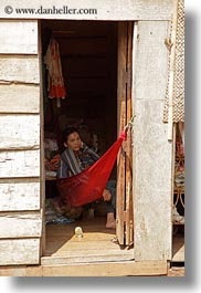 asia, cambodia, hammock, people, red, vertical, womens, photograph