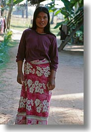 asia, cambodia, people, smiling, vertical, womens, photograph