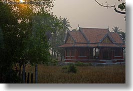 asia, cambodia, horizontal, landscapes, scenics, sunsets, temples, photograph