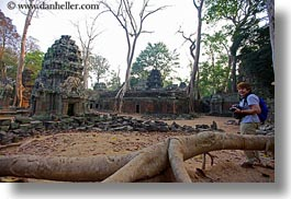 architectural ruins, asia, cambodia, cameras, horizontal, ta promh, temples, views, wide, womens, photograph
