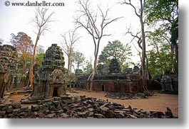 architectural ruins, asia, cambodia, horizontal, ta promh, temples, views, wide, photograph