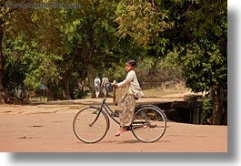 asia, bicycles, big, cambodia, girls, horizontal, transportation, photograph