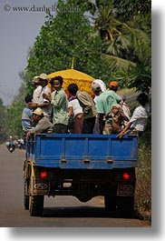 asia, cambodia, crowded, over, transportation, vehicles, vertical, photograph