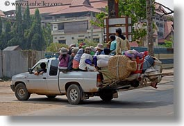 asia, cambodia, crowded, horizontal, over, transportation, vehicles, photograph