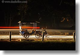 asia, cambodia, horizontal, long exposure, nite, transportation, tuk tuk, photograph