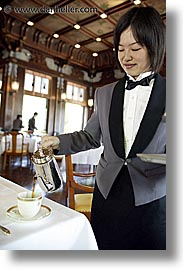 asia, coffee, dining room, fujiya hotel, hakone, japan, serving, vertical, photograph