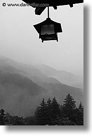 asia, black and white, fujiya, hakone, japan, landscapes, lanterns, vertical, photograph