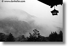 asia, black and white, fujiya, hakone, horizontal, japan, landscapes, lanterns, photograph