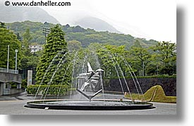 artsy, asia, fountains, hakone, horizontal, japan, open air museum, photograph