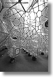 asia, black and white, bubbles, gym, hakone, japan, open air museum, vertical, photograph