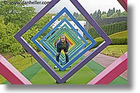 asia, colorful, diamonds, hakone, horizontal, japan, open air museum, shapes, photograph