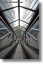 asia, escalators, hakone, japan, open air museum, slow exposure, vertical, photograph