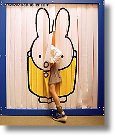 asia, bunny, curtains, hakone, japan, kid, open air museum, vertical, photograph