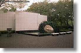 asia, big, drops, hakone, heads, horizontal, japan, open air museum, rain, photograph