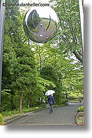 asia, balls, hakone, japan, open air museum, reflective, vertical, photograph
