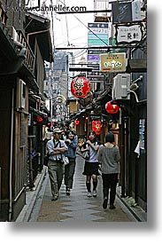 asia, busy, city scenes, japan, kyoto, narrow, streets, vertical, photograph