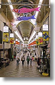asia, city scenes, japan, kyoto, pedestrial, shopping, vertical, photograph
