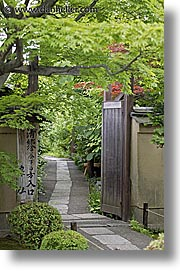 asia, covered, gardens, green, japan, koto in, kyoto, paths, vertical, photograph