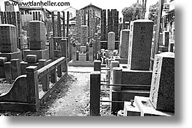 asia, black and white, graves, graveyard, horizontal, japan, japanese, koto in, kyoto, photograph