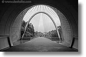 asia, black and white, horizontal, interiors, japan, kyoto, miho museum, tunnel, photograph