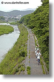 asia, japan, kyoto, paths, rivers, vertical, photograph