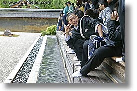 asia, for, horizontal, japan, kyoto, posing, ryoanji temple, photograph