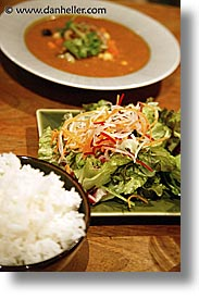 asia, foods, japan, rice, salad, soup, vertical, photograph