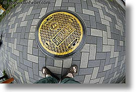 asia, fisheye lens, hakone, horizontal, japan, manhole covers, manholes, photograph