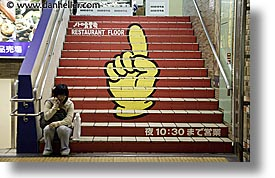 asia, fingers, horizontal, japan, stairs, subway, photograph