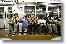 asia, horizontal, japan, riders, subway, photograph