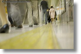 asia, horizontal, japan, slow exposure, subway, walkers, photograph